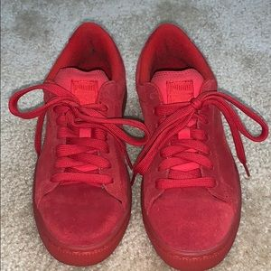 Classic red suede Puma shoes